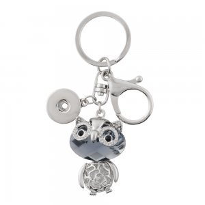 Alloy fashion Keychain with pendant and buttons fit snaps chunks KC1194 Snaps Jewelry