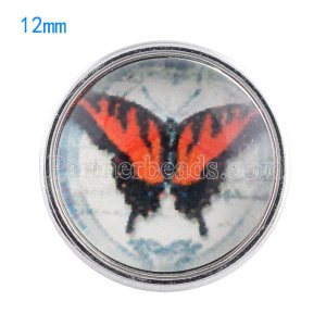 12MM snaps glass of Butterfly KT0051 interchangable snaps jewelry