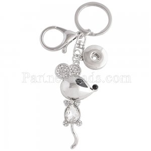 Alloy fashion Keychain with pendant and buttons fit snaps chunks KC1153 Snaps Jewelry