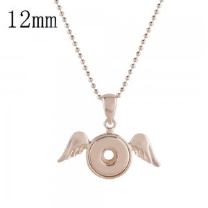 Rose Gold  Necklace with 45CM chain KS1163-S fit 12mm snaps jewelry