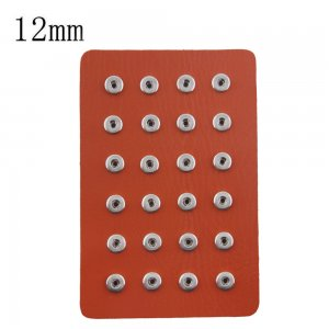 Display of 24 pieces PU leather orange type for 12MM snaps chunks