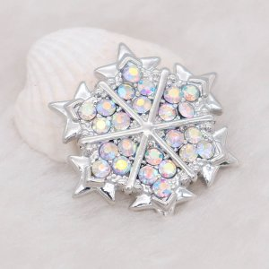 20MM design snap Silver Plated with colorful rhinestone KC7989 snaps jewelry