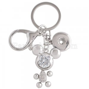 Alloy fashion Keychain with pendant and buttons fit snaps chunks KC1154 Snaps Jewelry
