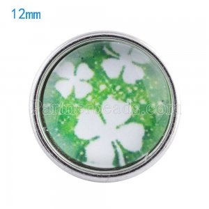 12MM snaps glass of Clover KT0055 interchangable snaps jewelry