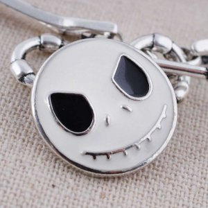 20MM Christmas Ghost baby snap Silver Plated with white Enamel KC8620 snaps jewelry
