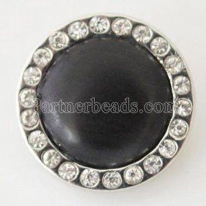 snaps black Cats Eyes Stone with Rhinestones Snaps