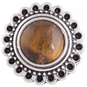 20MM round snap silver plated with brown Turquoise  KC8908 interchangable snaps jewelry