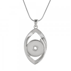 Pendant sliver Necklace with 45CM chain KC1046 snaps jewelry