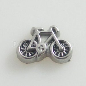 Floating Locket Charms - Bicycle