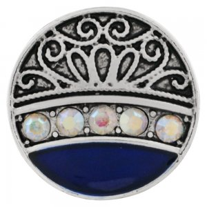 20MM design snap Silver Plated with colorful rhinestone and enamel KC9897 snap jewelry