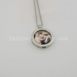 33 mm glass Coin fit Locket type 004