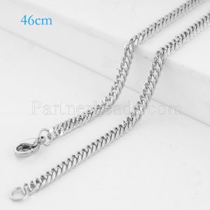 46CM Stainless steel fashion chain fit all jewelry silver plated FC9027