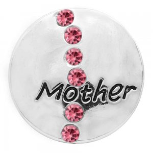 20MM mother snap silver Plated with rose Rhinestone  KC9090 snaps jewerly