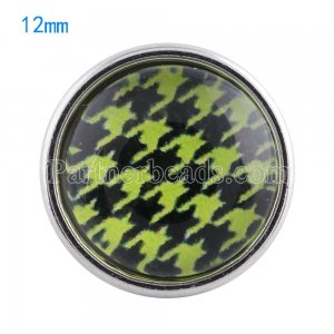12MM snaps glass of design KT0048 interchangable snaps jewelry