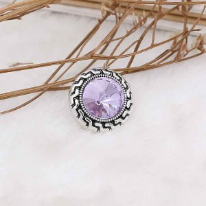 20MM snap Jun. birthstone purple KC6579 interchangable snaps jewelry