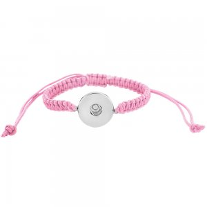 Handmade pink line Children's adjustable bracelet CH3001 fit 20mm snaps chunks