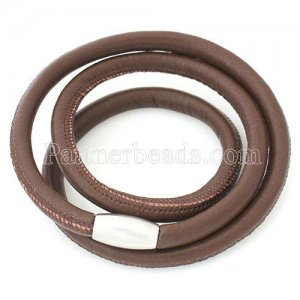 59CM Brown Leather Bracelets