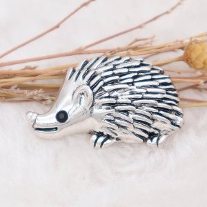 20MM Hedgehog snap Silver Plated  KC7993 snaps jewelry