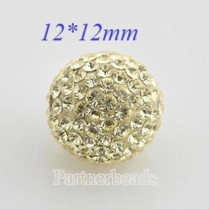 12mm Yellow STELLUX Austrian crystal ball beads