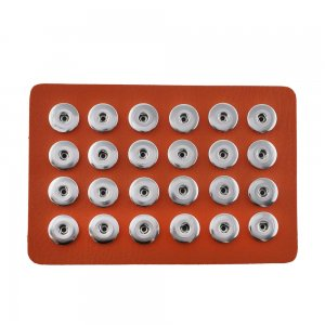 Display of 24 pieces PU leather orange type for 18&20MM snaps chunks