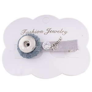 Hairpin 6CM with one button and Pendants Fit 18mm Chunks