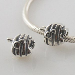 partner antique sterling silver beads-Striped swordfish