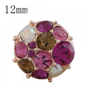 12MM round Rose Gold Plated KS5236-S rose snaps jewelry