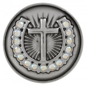 20MM cross snap button Silver Plated with colorful rhinestone KC5711 snap jewelry