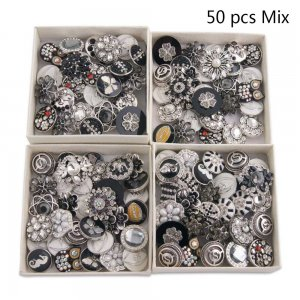 50pcs/lot Snap buttons 20mm Mix black or white or Black&white colors mixmix colors