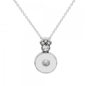 Pendant sliver Necklace with 48CM chain KC1093 snaps jewelry