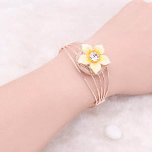 Rose Gold bracelet  rhinestone fit 20MM snaps jewelry KC0883