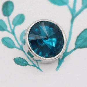 12MM snap Dec.birthstone cyan KS7042-S Snaps interchangeables bijoux
