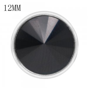 12MM snap With Black rhinestones KS7044-S interchangable snaps jewelry