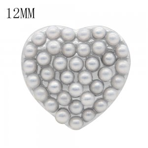 Love 12MM snap White pearl  KS7047-S interchangable snaps jewelry