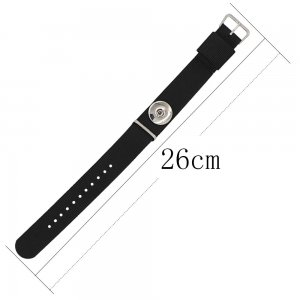 1 buttons Black KC0886 Watch bracelets fit 20MM snaps chunks