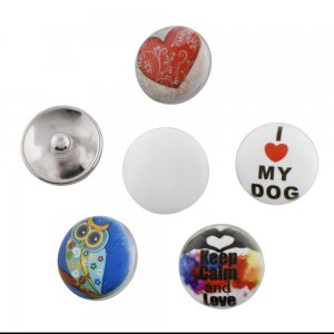 20MM Custom metal painting enamel snaps button MOQ 100pcs/type
