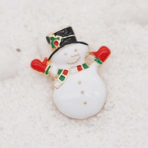 Christmas 20MM design Snowman rose gold snap Plating Enamel KC8032 snaps jewelry