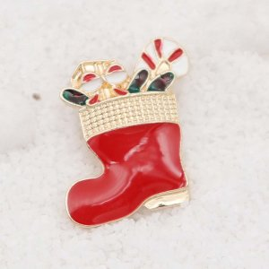 20MM design Christmas boots rose gold snap Plating Enamel KC9110 snaps jewelry