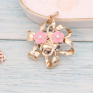 Blumen 20MM Snap vergoldete Perlen Pink Drop Oil KC9136 Snaps Schmuck
