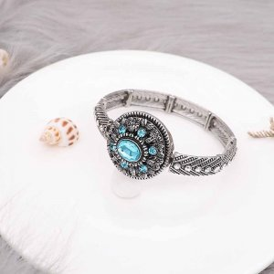 20MM  snap Silver Plated with blue rhinestone KC9155 snaps jewelry