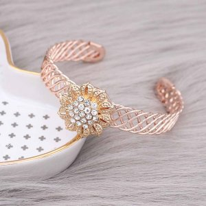 20MM  snap gold Plated with white rhinestone KC9161 snaps jewelry