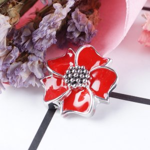 20MM Flower  snap  red DS5128 with interchangeable snaps jewelry
