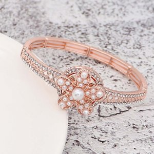 20MM Starfish snap Rose Gold con White Pearl KC8059 broches de joyería