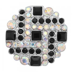 20MM  snap Silver Plated with colorful rhinestone KC8063 snaps jewelry