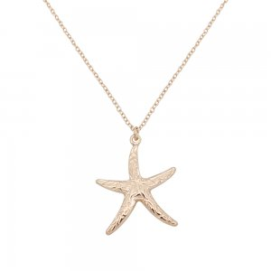 Starfish Sea star Ocean-style gold metal TA3109 46CM new type Necklace fashion Jewelry