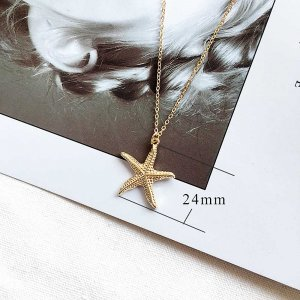 Starfish Sea star Ocean-style gold metal TA3104 46CM new type Necklace fashion Jewelry