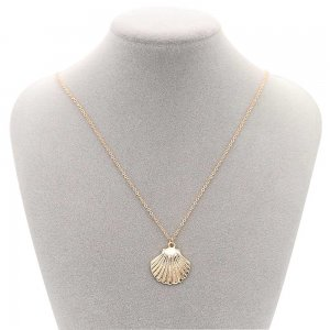 Sea life  Shell Charm Necklace Metal gold plated with 46cm chain TA3115