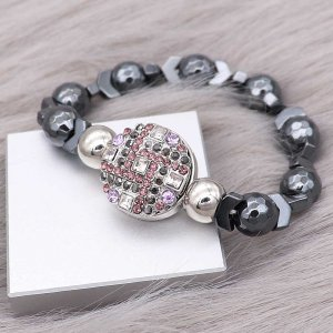 20MM  snap charms Silver Plated with colorful rhinestone KC8067 snaps jewelry