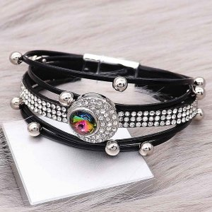 20MM design snap charms Silver Plated with Colorful  rhinestone  KC9203  snaps jewelry