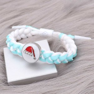 1 buttons Blue Rope  KC0509 new type Bracelet fit 20mm snaps chunks